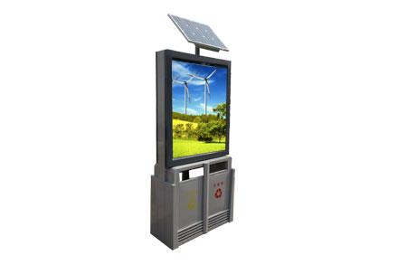 太阳能广告垃圾桶 - 太阳能垃圾桶