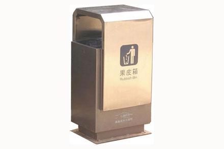 方形不锈钢垃圾桶 - 不锈钢单口果皮箱