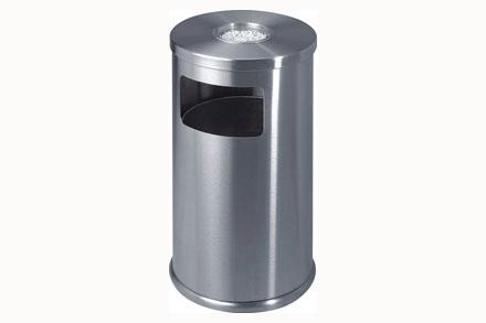 室内不锈钢圆垃圾桶图片