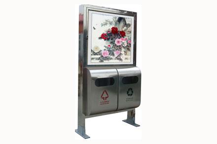 广告牌垃圾桶 - 广告灯箱果皮箱