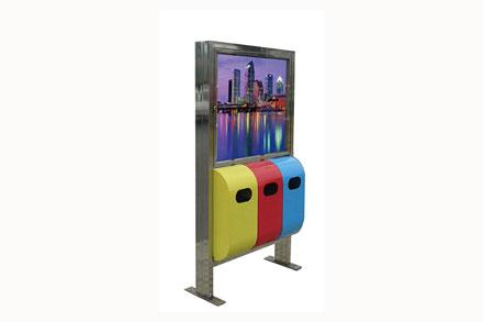 户外广告牌垃圾桶 - 广告灯箱果皮箱