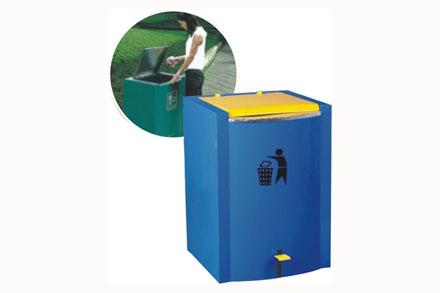 脚踏垃圾桶 - 钢制单口果皮箱